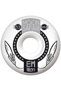 EMillion Moon Safari Logo 53mm Wheel 4er Pack  (white grey)