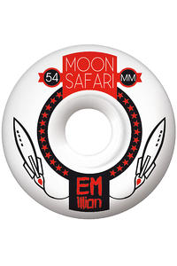 EMillion Moon Safari Logo 54mm Rollen 4er Pack  (white red)