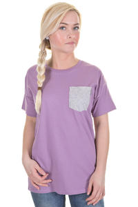Carhartt Contrast Pocket T-Shirt girls (mauve light grey heather)