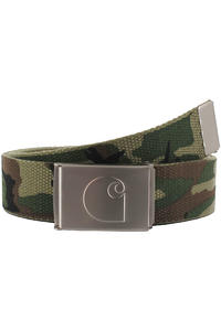 Carhartt Logo Clip Chrome Belt (camo green)