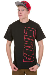 C1RCA Vertical Logo T-Shirt (black red)