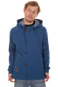 C1RCA Buttoned Up Zip-Hoodie (dark blue)