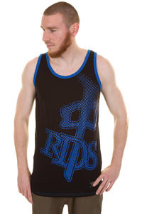Red Dragon OG Bitmap Tank-Top (black cyan)