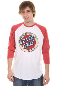 Santa Cruz MF Dot Baseball Longsleeve (barn red white)