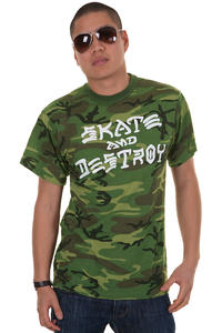 Thrasher Skate And Destroy T-Shirt (camo)