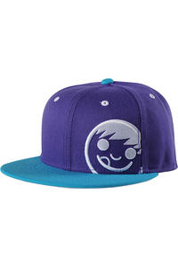 Neff Corpo Snapback Cap (purple blue white)