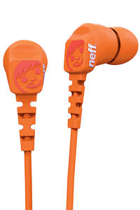 Neff Daily Ear Buds Headphones (orange)