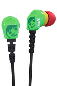 Neff Daily Ear Buds Headphones (rasta)