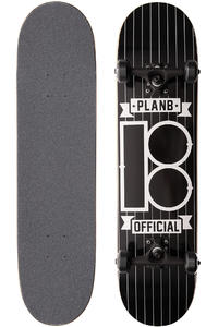 Plan B Team Pinstripe 7.75&quot; Complete-Board (black)