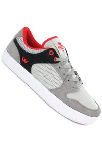 Supra Vaider LC Suede Shoe (grey black red)