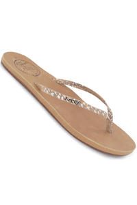 Reef Leather Uptown Luxe Slaps girls (tan snake)