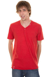 LRG CC Y Neck T-Shirt (red heather)