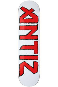 Antiz Skateboards Iron 8.125&quot; Deck (white red)