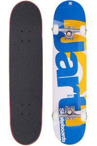 Jart Skateboards Duo III Logo 7.625&quot; Complete-Board (blue orange)