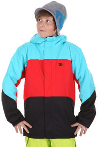 DC Amo K Snowboard Jacke kids (black athletic red)