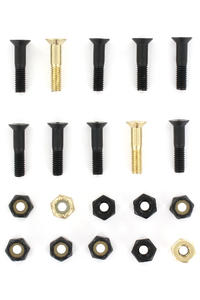 "SK8DLX Nuts & Bolts Gold 7/8"" Phillips Bolt Pack (black gold)"