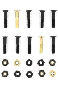 "SK8DLX Nuts & Bolts Gold 1"" Phillips Bolt Pack (black gold)"