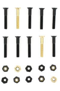 "SK8DLX Nuts & Bolts Gold 1 1/4"" Phillips Bolt Pack (black gold)"