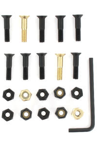 "SK8DLX Nuts & Bolts Gold 7/8"" Allen Bolt Pack (black gold)"