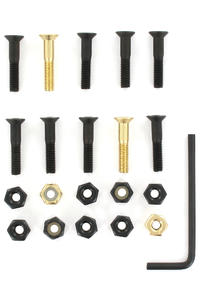 "SK8DLX Nuts & Bolts Gold 1"" Allen Bolt Pack (black gold)"