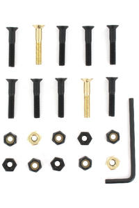 "SK8DLX Nuts & Bolts Gold 1 1/8"" Allen Bolt Pack (black gold)"