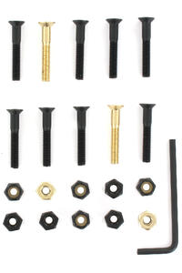 "SK8DLX Nuts & Bolts Gold 1 1/4"" Allen Bolt Pack (black gold)"