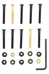 "SK8DLX Nuts & Bolts Gold 1 1/2"" Allen Bolt Pack (black gold)"