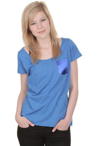 Iriedaily Shake T-Shirt girls (blue melange)