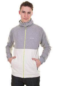 Mazine Fade Zip-Hoodie (mid grey melange light grey)