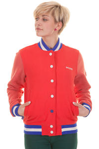 Mazine Team Jacke girls (poppy red grizzle melange)