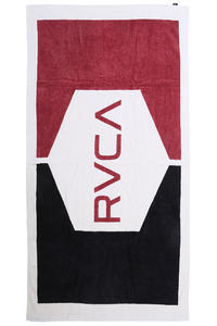 RVCA Flat Out Beach Handtuch (black red)
