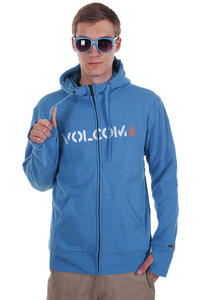 Volcom Aged  Standard Sherpa Zip-Hoodie (blue)