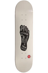 "Trap Skateboards Mit Hand Und FUSS 7.75"" Deck (white)"