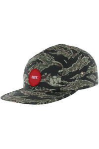 Obey Circle Patch 5 Panel Cap (tiger camo)