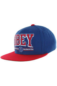 Obey Athletics Snapback Cap (blue red)