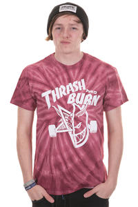 Thrasher Thrash And Burn T-Shirt (tie dye)