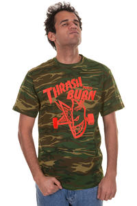 Thrasher Thrash And Burn T-Shirt (camo)
