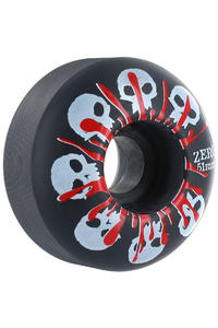 Zero Skulls 51mm Rollen 4er Pack  (black)