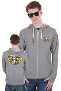 Powell Peralta Winged Ripper Zip-Hoodie (grey)