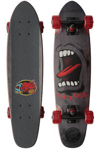 Santa Cruz Sidewalk Screamer 6.4&quot; x 25.3&quot; Cruiser (black)