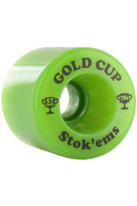 Gold Cup Stokems 57mm 78A Rollen 4er Pack  (green)