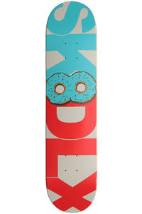 "SK8DLX Donut Series 7.5"" Deck (light blue red)"