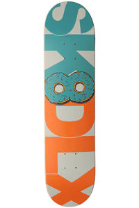 "SK8DLX Donut Series 7.625"" Deck (turquoise orange)"