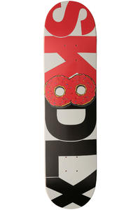 "SK8DLX Donut Series 7.75"" Deck (red black)"