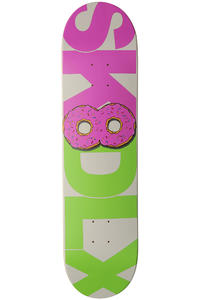 "SK8DLX Donut Series 7.875"" Deck (purple green)"