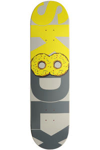 SK8DLX Donut Series 8.25&quot; Deck (yellow grey)