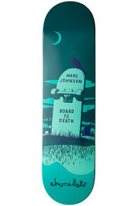 Chocolate Johnson Tombstone 8.125&quot; Deck (blue)