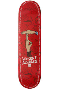 "Chocolate Alvarez Trunk Boyz 8.25"" Deck (red)"