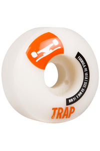 Trap Skateboards Crossbreed 50mm Rollen 4er Pack  (white silver)