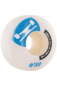 Trap Skateboards Crossbreed 52mm Rollen 4er Pack  (white blue)